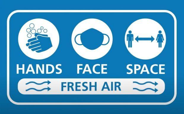 Hands, face, space - fresh air