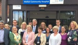 Philip Hamond with the Walton Community Hospital Staff